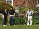 Prescott playing croquet at Dorneywood